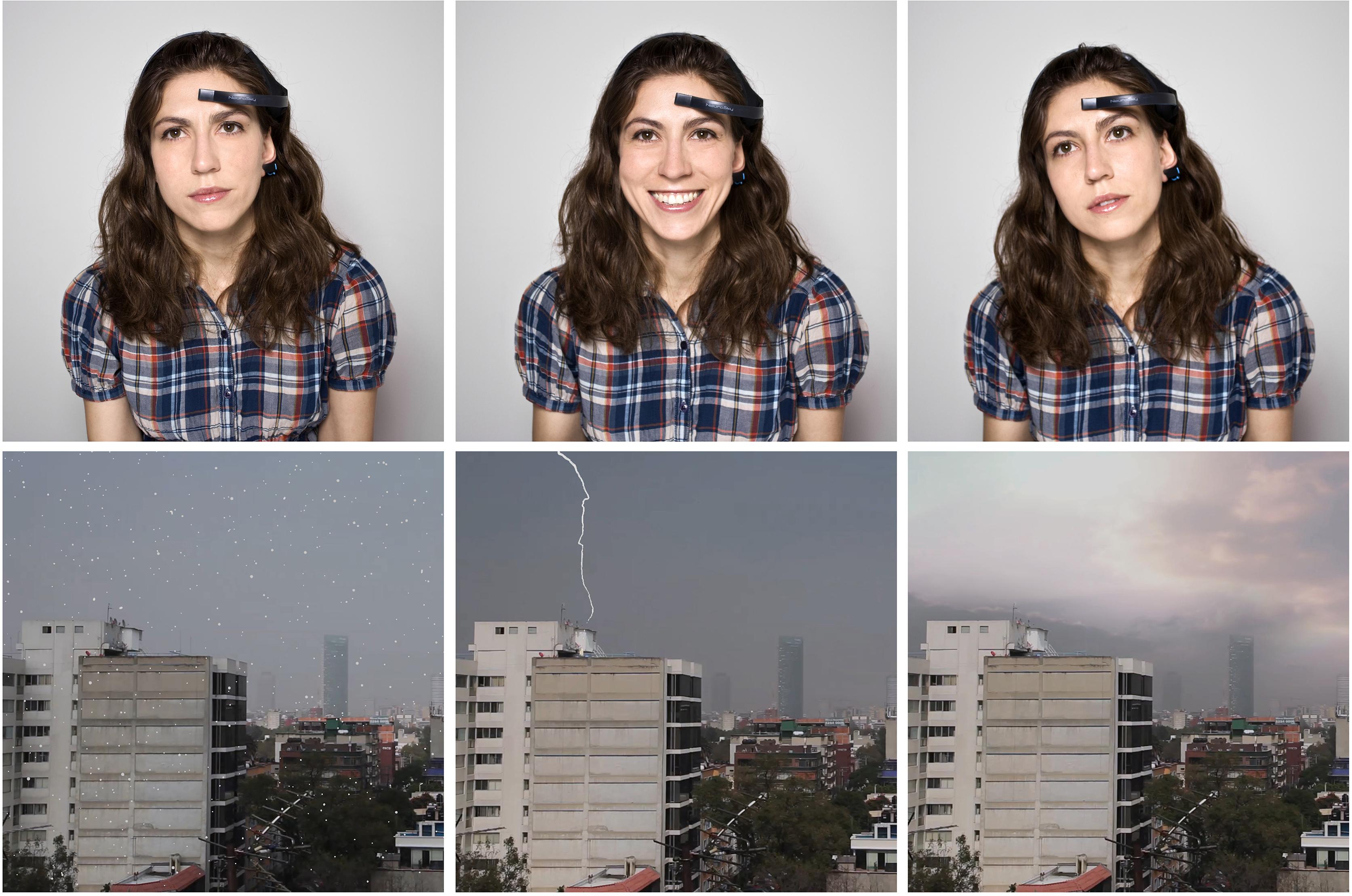 Anni Garza Lau, Environmental disturbances_videoinstallazione interattiva e lettore di onde cerebrali_2012 (1)