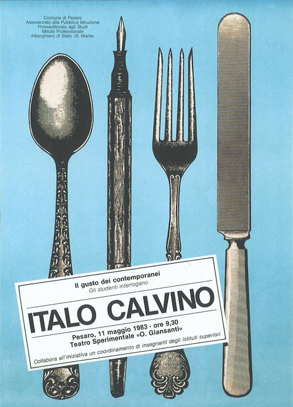 1-Il gusto dei contemporanei. Gli studenti interrogano Italo Calvino, 1983, offset Massimo Dolcini