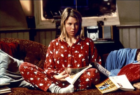 Bridget-Jones-in pigiamone