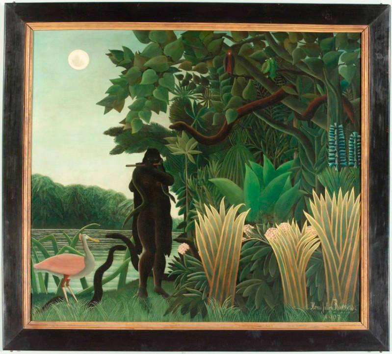 Henri Rousseau, La Charmeuse de serpents LÔÇÖIncantatrice di serpenti, 1907. Olio su tela, cm 167 x 189,5. Parigi, Mus+®e d'Orsay. -® RMNÔÇÉGrand Palais (Mus+®e dÔÇÖOrsay)Herv+® Lewandowski