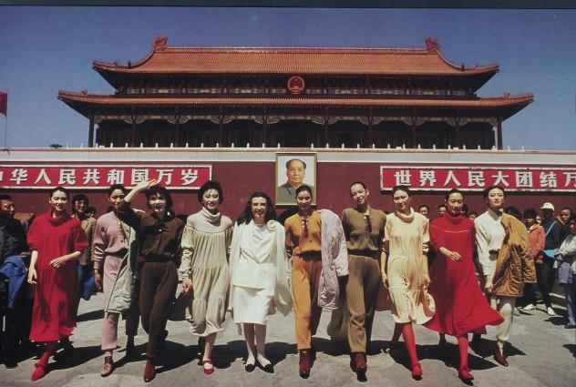 Laura Biagiotti a Pechino 1988