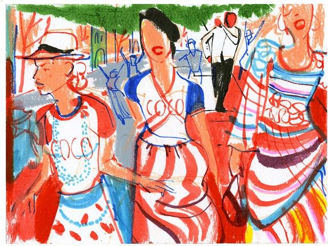 Il fashon show raccontato dall'illustratore cubano-® Edel Rodriguez