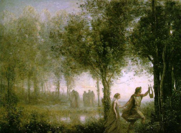 1-ÔÇÿOrfeo ed EuridiceÔÇÖ di Jean-Baptiste-Camille Corot (1871) Museum of Fine Arts, Houston