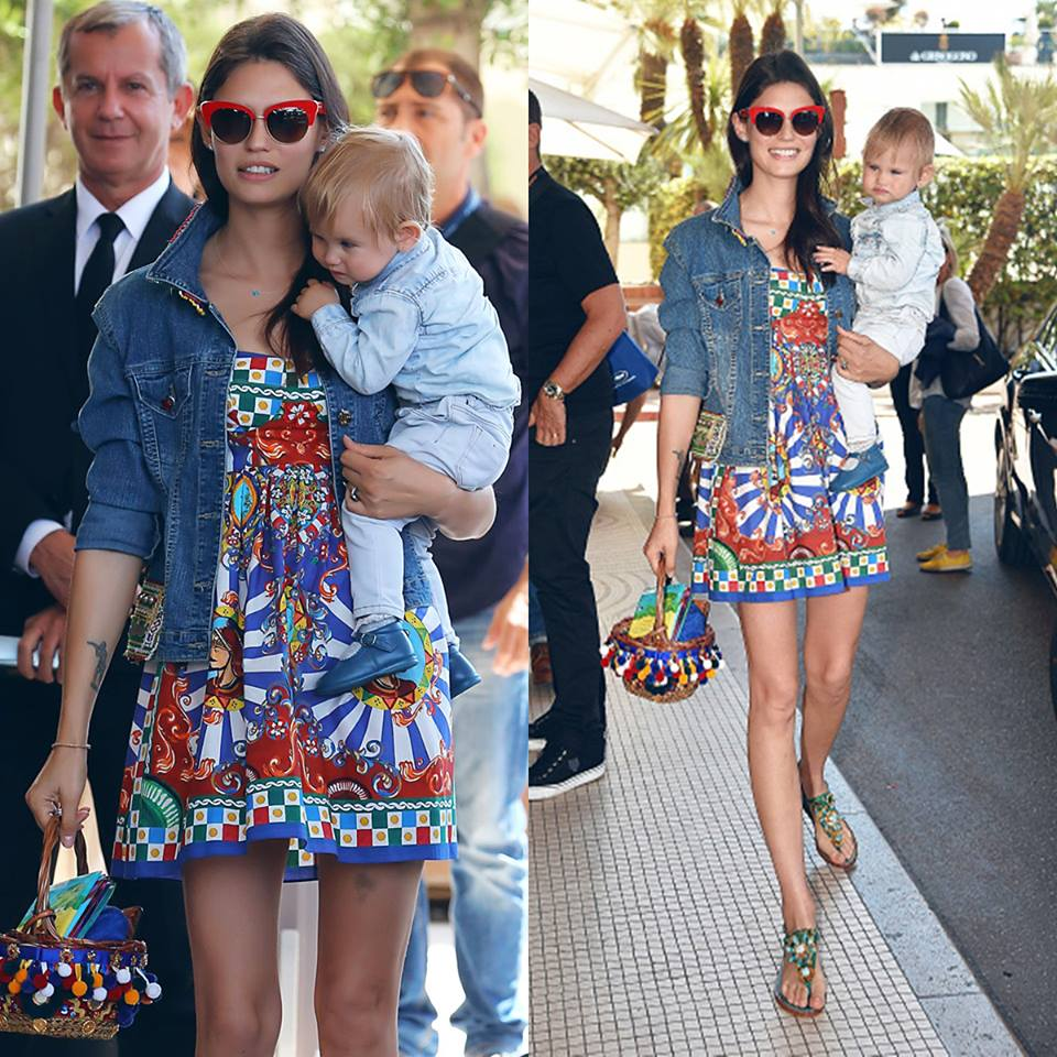 30-Bianca Balti and Mia during Cannes Film Festival 2016 in Dolce&Gabbana