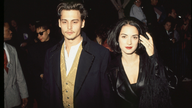 Mandatory Credit: Photo by BEI/BEI/Shutterstock (5133348q) Johnny Depp and Winona Ryder Archive Photos