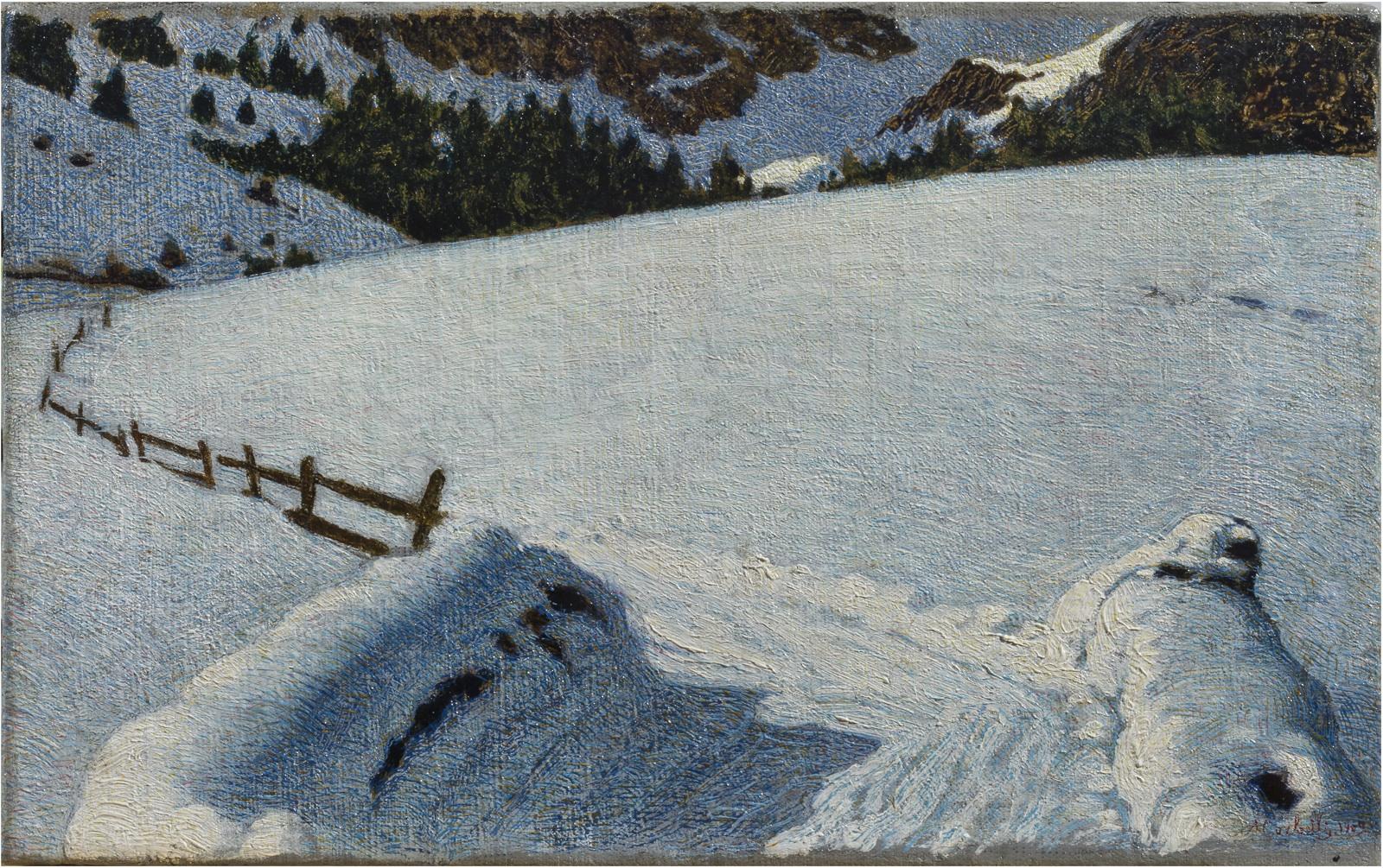 8-angelo-morbelli-neve-olio-su-tela-24-x-38-cm