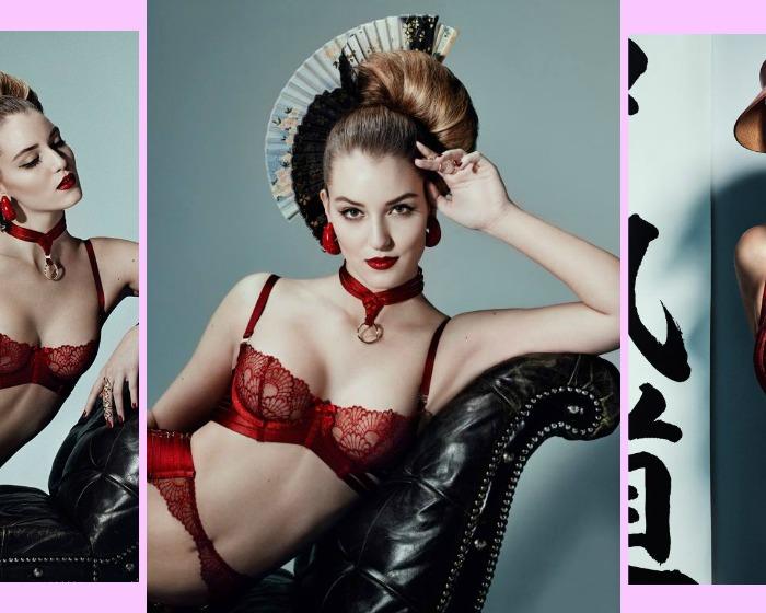 Obiettivo: lingerie in rosso!