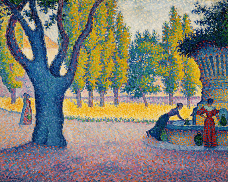 paul-signac-saint-tropez-fontaine-des-lices-1895